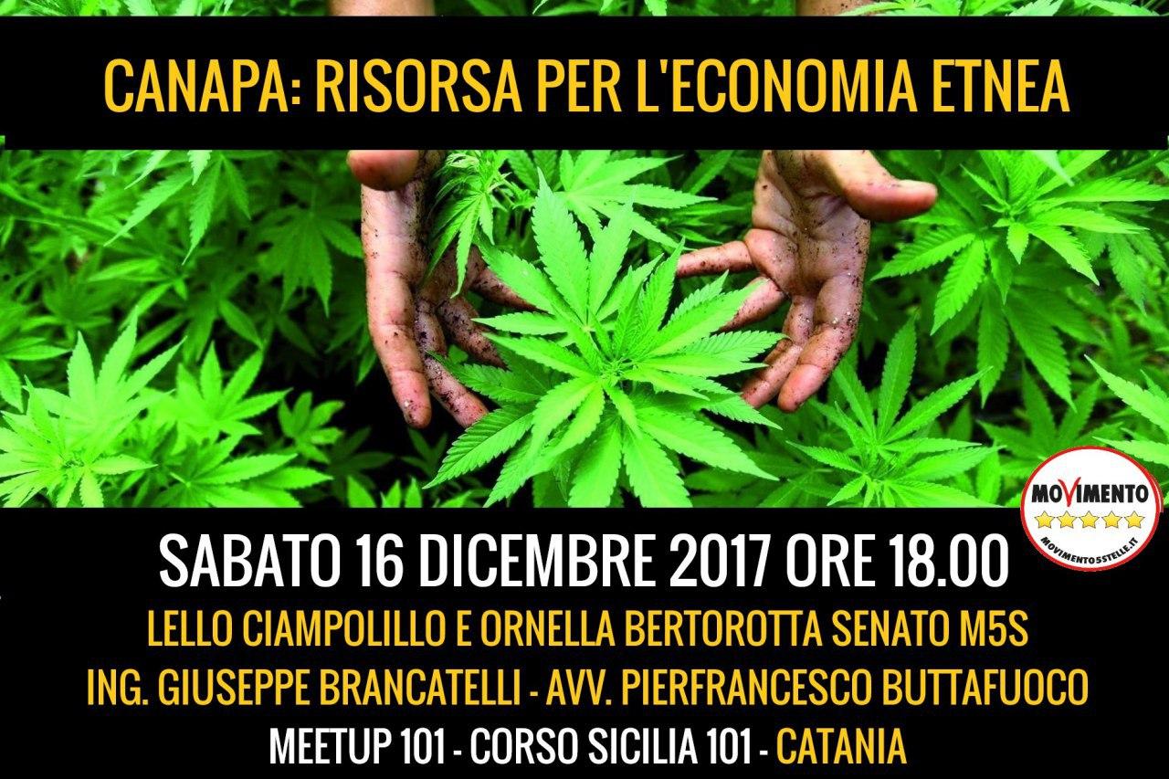 Locandina M5S incontro su lla Canapa del 16_12_17 a Catania.jpeg